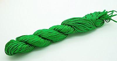 GREEN 1mm Superior Quality Chinese Knot Nylon Braided Cord Shamballa Macrame Beading Kumihimo String (30yards Skein)