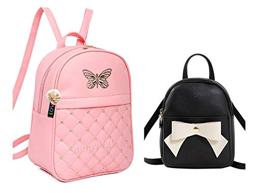 ShopyVid® 2 Set of Combo Girls Cute Backpack | Rakhi Gifts for Sister | bagals for girls stylish | teddy bear bag for girls stylish