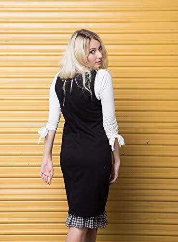 Peekaboo-Chic Cottage Check Half Slip Skirt Extender (Black, l/XL) by Peekaboo-Chic (Image #4)
