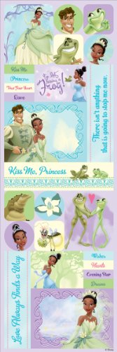 Sandylion Princess and The Frog Paper Sticker, 4-Inch by 12-Inch