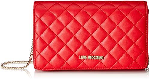 Love Moschino Borsa Nappa Pu Quilted, Sacs portés épaule Rouge (Rosso)