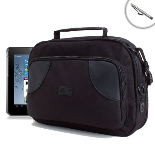 Kids Tablet Travel Display Case with Storage Pocket and Durable Exterior by USA Gear- Works with iRULU BabyPad Y1 , Nabi 2s , Samsung Galaxy Tab E Lite KIDS and More Children's Tablets by USA Gear