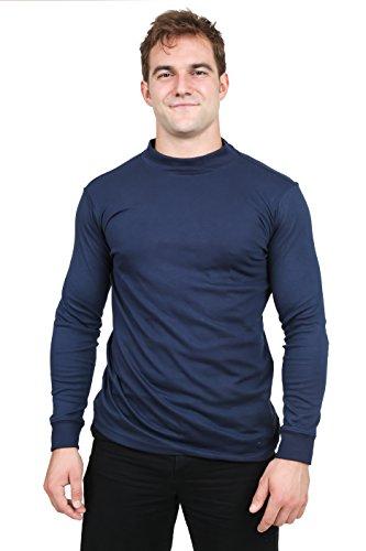 Utopia Wear Men's Cotton Blend Interlock Mock...