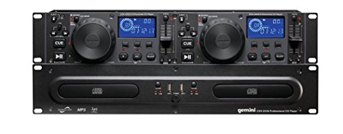 Gemini CDX Series CDX-2250i Professional Audio DJ Equipment Multimedia CD Media Player with Audio CD, CD-R, and MP3 Compatible with USB - Controller Cd Player