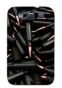 Case For Galaxy S3 Tpu Phone Case Cover(black And Copper Ammo) For Thanksgiving Day's Gift