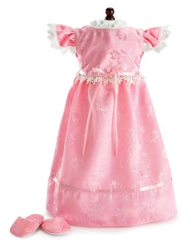Victorian Slipper (Sweet Dreams Pink Nightgown & Slippers Fits 18