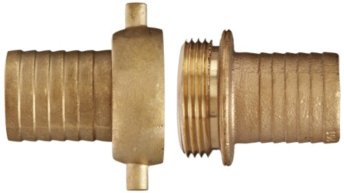 Dixon BS63N Brass Hose Fitting, Complete King Short Suction Coupling Set with Brass Nut, 1-1/2'' NST x 1-1/2'' Hose ID Barbed by Dixon Valve & Coupling (Image #1)