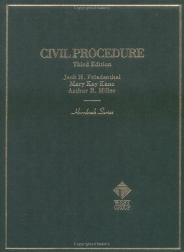Civil Procedure (Hornbook Series)