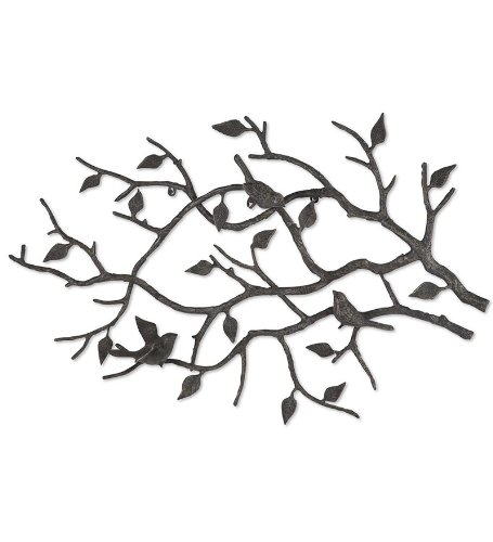 iron wall art. Indoor/Outdoor Cast Iron Bird Branch Wall Art: Amazon.co.uk: Garden \u0026 Outdoors Art