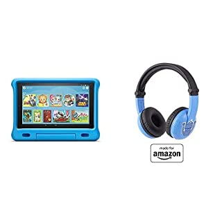 Fire HD 10 Kids Tablet 32GB Blue with Playtime (Ages 3-7) Bluetooth Headset