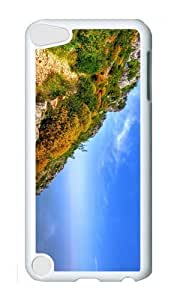 Ipod 5 Case,MOKSHOP Cool hill sea scenery Hard Case Protective Shell Cell Phone Cover For Ipod 5 - PC White