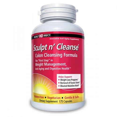 Sculptez n 'Nettoyer Supplément de nettoyage du côlon (450 mg, 175 Veggie Capsules) de Santé Direct