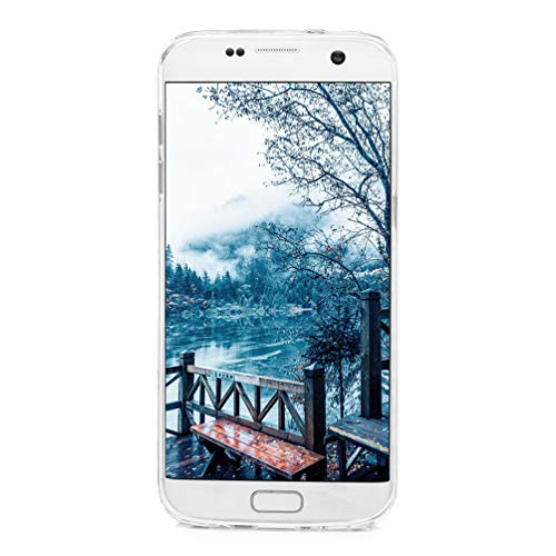 Galaxy S7 Edge Case, Clear Liquid Glitter Case Air-Cushion Drop Resistant Shiny Sparkle Flowing Moving Hearts Shock Absorption TPU Bumper Shell Protective Cover for Samsung Galaxy S7 Edge - Unicorn by KASOS (Image #6)