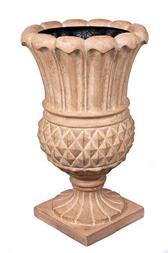 BirdRock Garden Pineapple Urn - Aged Ivory | Indoor Outdoor Planter Urn by BirdRock Home