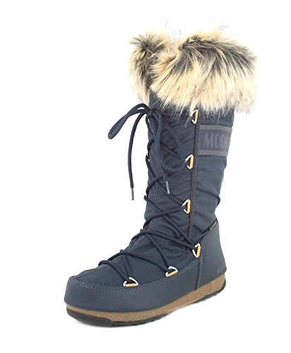 Boot W Womens Tecnica Waterproof Faux Denim Monaco Moon Fur Boots Wp e Azul Winter p14qTw