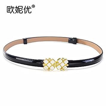 YANGFEIFEI-YD L été 2018 femmes de ceinture en cuir fine toutes simples- c40bc39a867