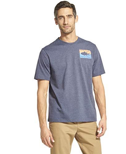 (IZOD Men's Short Sleeve Graphic T-Shirt, Anchor, Large)