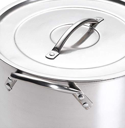 IMUSA USA Stainless Steel Stock Pot 20-Quart, Silver 20 quarts,