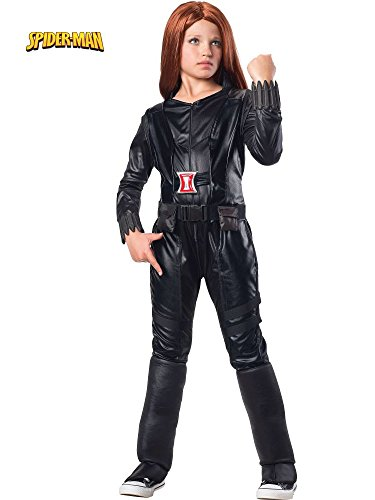 (Rubies Marvel Comics Collection: Captain America: The Winter Soldier Deluxe Black Widow Costume, Child)