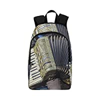 HTJZH Beautiful Melody Accordion Casual Daypack Travel Bag College School Backpack for Mens and Women