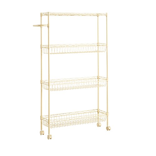 Kitchen bathroom toilet shelves / refrigerator clearance finishing frame / movable folder stitching rack by Shelf-xin