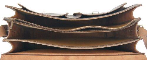 FREIHERR von MALTZAHN Aktentasche DA VINCI 2 aus BIO-Leder, Handmade in Germany, inkl. Lederpflege