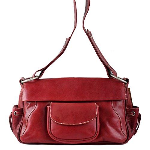 al Bolso Rojo hombro rojo Lederbags mujer para 1nHq5dnZw