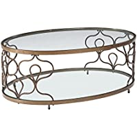 Fraloni Oval Cocktail Table Bronze/Traditional