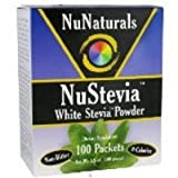 NuNaturals - NuStevia White Stevia Powder - 100 Packet(s) (Pack of 3)