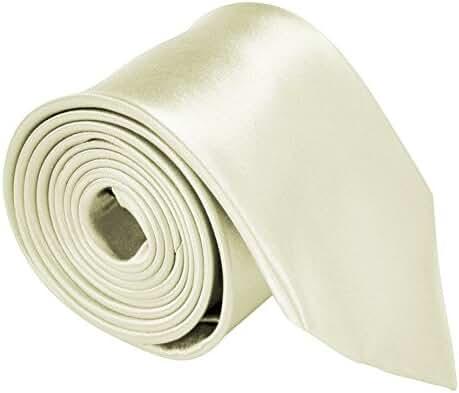 "Moda Di Raza - Mens Necktie 3.5"" Tie Satin Finish Polyester Ties Solid Colors"