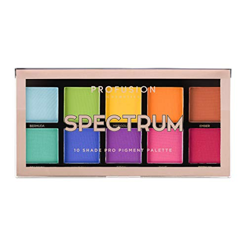 Maquillage De Star Halloween (Profusion Cosmetics Mini Artistry 10 Shade Eyeshadow Palette,)
