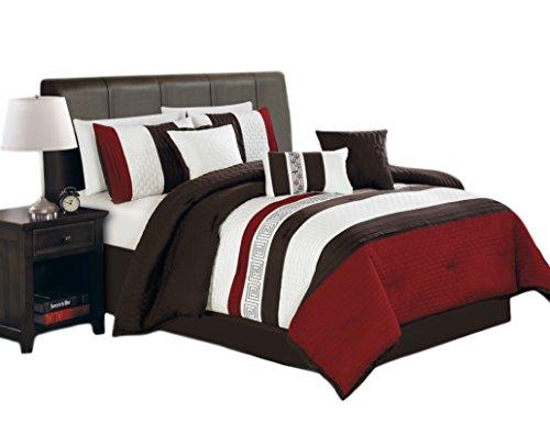 Hallmart Collectibles 64475 7-Piece Ethan Comforter Set, Que