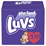 Diapers Newborn/Size 1 (8-14 lb), 252 Count - Luvs