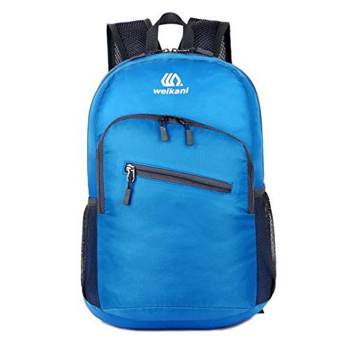 Price comparison product image 18L Foldable Packable Nylon Men Outdoor Sport Bag Cycling Backpack Blue Color