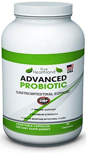 Чистый Healthland Расширенный Пробиотик Дополнение 60 капсул. Совершенствуй свой пищеварительный фермент Здоровье. Улучшение иммунной системы, толстой кишки Здоровье, пищеварение, потеря веса. Увеличение энергетических уровней, бороться с усталостью. Сайт
