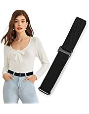 Invisible Women Stretch Belt No Show Elastic Adjustable Web Belts With Flat Buckle For Jeans Pants Dresses By WHIPPY