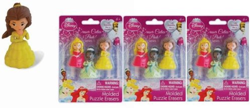(Disney Princess Puzzle erasers x 3)
