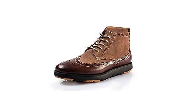 zapatos hombre tallado/Zapatos casuales de hombres de Inglaterra-A Longitud del pie=26.3CM(10.4Inch)