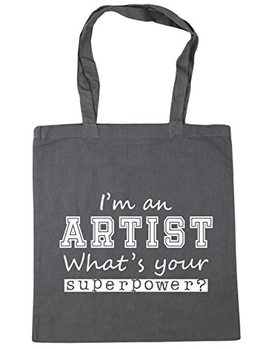 Bag 10 HippoWarehouse Your Superpower Gym litres Shopping Graphite an What's I'm Grey 42cm Artist x38cm Beach Tote OrwqTvO