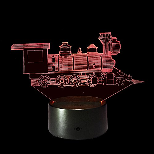 Cheap Ornerx 3D Illusion Lamp LED Night Light Train