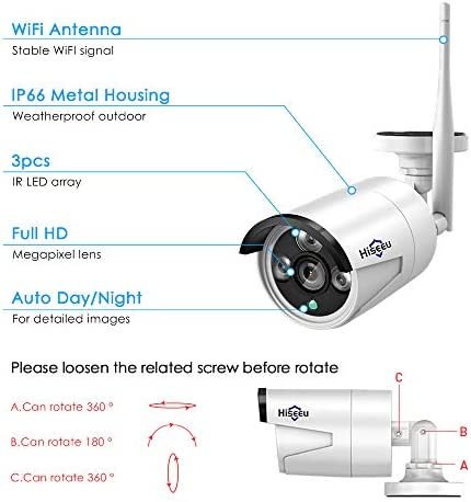 [8CH Expandable] Hiseeu All in one with 10.1″ Monitor Wireless Security Camera System,8ch Wireless Home Security Camera System,4pcs 1080P Indoor/Outdoor Security Camera,Remote View,1TB Hard Drive 41 50yVbp2L