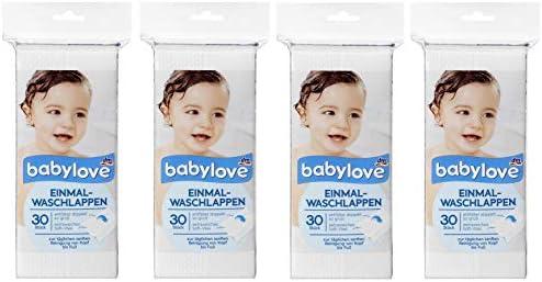 Tampons de nettoyage en coton Babylove paquet de 4 4 x 60 pieces