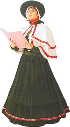 Christmas Caroling Costume.Amazon Com Adult Christmas Caroler Costume Size Large 12