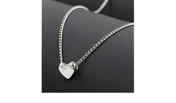 Eroihe Collar con Colgante de Corazón Collar de Aleación de Encanto Clavícula de Las Mujeres Regalo de la Joyería