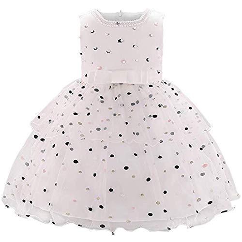 Dress for Baby Girls Dresses Infant Girl Dresses 12-18 Months Baby Girls Bridesmaid Dress for Baby Girl Baptism Dress for Baby Girl lace Dress for Baby Beautiful Dresses Toddler (L1876XZ,White,80)