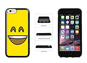 Bright Yellow Smiley Grin with Teeth Face TPU RUBBER SILICONE Phone Case Back Cover Apple iPhone 6 (4.7 inches)