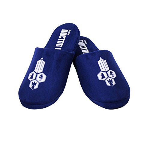 Doctor Who Tardis Blue Villain Hex Womens Slippers Size US 7/8