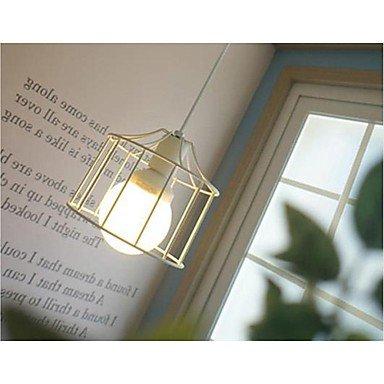 MLA jaula droplight 1 luz de pastoreo contrato Luminaria blanco lustres de soldadura pintura spray casa moderna Lámpara de techo, 220-240 V: Amazon.es: ...