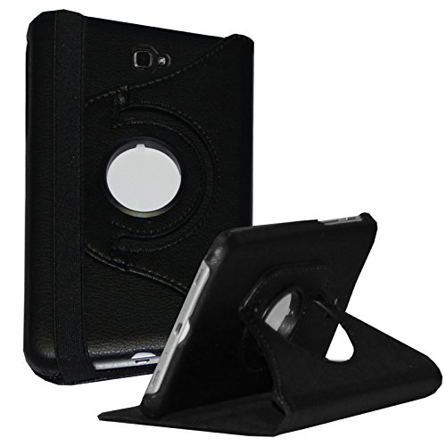 Galaxy Tab A 10.1 case - JYtrend (R) Rotating Stand Cover for Samsung Galaxy Tab A 10.1-inch SM-T580 SM-T585 SM-T587 SM-T580N SM-T585N SM-T580NZKAXAR SM-T585NZKABTU SM-T587PZKASPR (Black) (Best 10.1 Tablet For The Money)