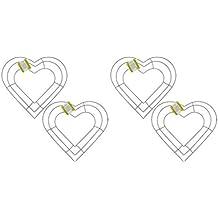 "4 - 12"" Wedding, Spring or Garden Heart-Shaped Metal Wreath Frames"